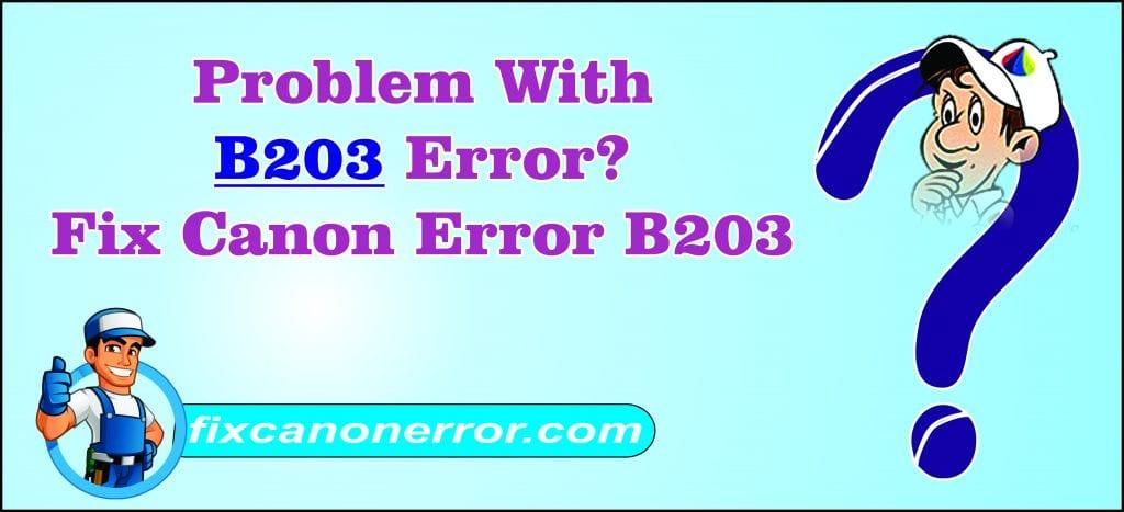 canon error B203