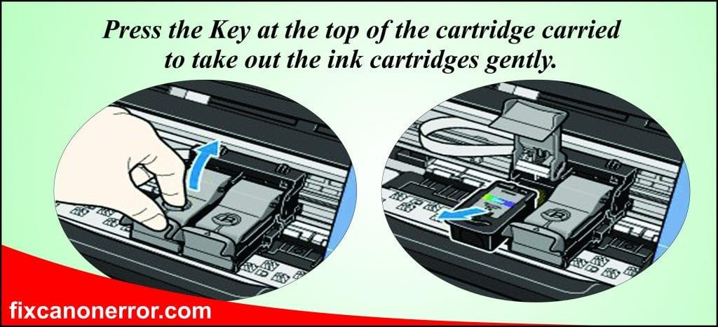 remove ink cartridges