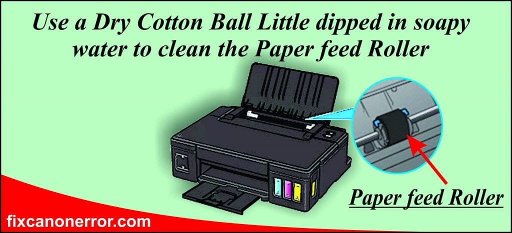 clean Canon Paper Feed Roller