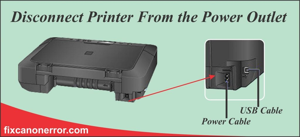 disconnect printer from power