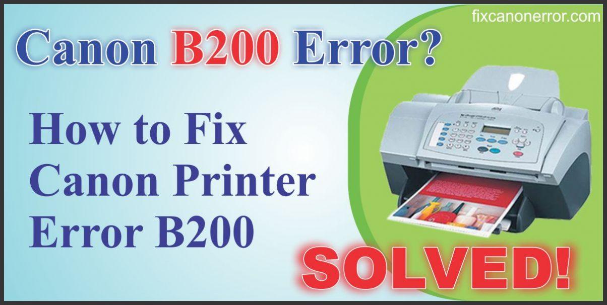 fix canon error B203