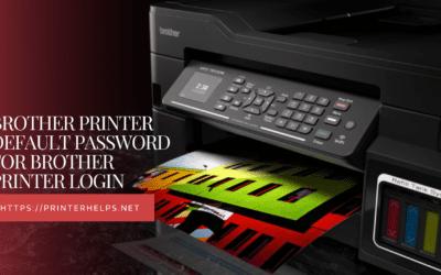 Brother Printer Default Password For Brother Printer Login