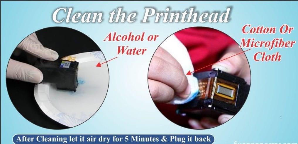 clean the canon printhead